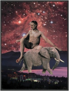 Giant man, cosmic mud and accidental elephant